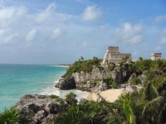 Explore ancient Mayan ruins in Tulum.