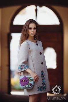 Ukraine, from Iryna Iranian Women Fashion, Ethnic Fashion, Hijab Fashion, Fashion Dresses, Womens Fashion, Hijab Stile, Mode Mantel, Coats For Women, Clothes For Women