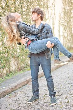 couple | Guy Carrying the girl. The girl must be extremely happy.
