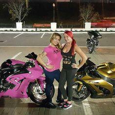 Me & my girl @missrnbaires had to show-up & show-out last night at bikenight! 👸💪❤ And you already know we rep that @dirtyleftshoecrew & @ridinpretty ❤👟🔥#newyorktoflorida #dirtyleftshoecrew #ridinpretty #bigboytoys #floridabikelife #newyorkbikelife #bikerbabes #bikerchicks #bikers #bikes #bmw #bmwrr #ninja #kawasaki #bmw1000rr #red #redhairdontcare #bikelife #bikefam #stretched #apparel #brand #lifestyle #pink #gold #ridingsexy #chickswhoride #zx10 #zx10r