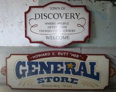 boutique sign ideas | Ideas for a studio sign / Cool general store signs