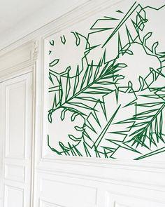 Wall stencil diy washi tape Ideas for 2019 Masking Tape Wall, Tape Wall Art, Washi Tape Diy, Tape Art, Diy Wall Art, Washi Tape Mural, Diy Art, Fairytale Garden, Geometric Wall Paint