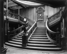 STEAMSHIP: STAIRCASE, c1911. The interior of the Grand Stairway, second landing. 1000 Piece Puzzle. STEAMSHIP: STAIRCASE, c1911. <br> The interior of.