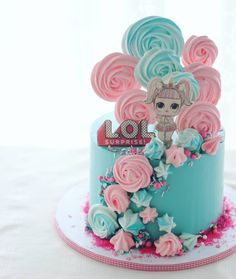 My niece just turned 4 and her latest obsession are the LOL Surprise toys. Her request was to have the LOL Unicorn on her cake; Doll Birthday Cake, Funny Birthday Cakes, Birthday Parties, Donut Birthday Cakes, 50th Birthday, Birthday Party Decorations, Lol Doll Cake, Surprise Cake, Doll Party