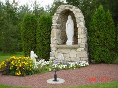 Lourdes grotto at La Salette Shrines (10330 336th Avenue, Twin Lakes, Wisconsin) La Salette Shrine