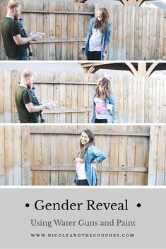 Here are unique gender reveal ideas for new mothers that are super fun to share with your family! Announce your baby's gender using balloons, confetti, colored powder, and more! Gender Reveal Paint, Gender Reveal Shirts, Baby Gender Reveal Party, Gender Reveal With Sibling, Gender Party, Paintball Gender Reveal, Future Mom, Before Baby, Reveal Parties