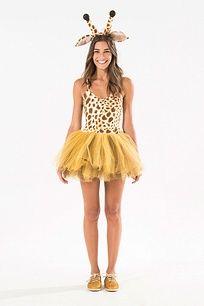 Resultado de imagem para fantasia de girafa feminina como fazer