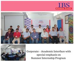 IBS Ahmedabad organized Corporate – Academic Interface with special emphasis on SIP. Company guides are shared their views and deliberations on the happenings of the business world and the role of new employees.