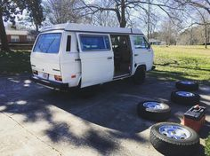 Wheel day! #vanagonlife #westfalia #vanagonia #vanagonlifestyle #vanagoncamper #vanlife #vwvan #vwvanagon #vanagon #clkwheels #bfgko by standbyyourvan