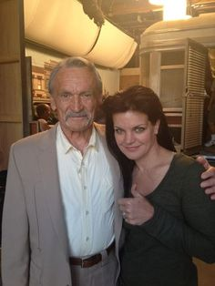 Muse Watson (the very missed Mike Franks) and Pauley Perrette from her twitter account.  Both Muse and Pauley were born in Louisiana.  Muse from Alexandria, La. and Pauley from New Orleans.