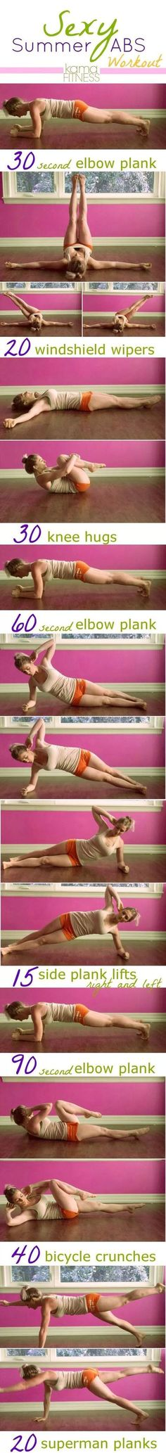 Sexy Summer Abs Workout Planks, side plank lifts