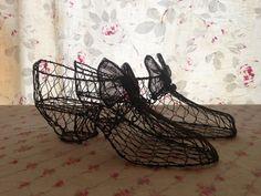 Vintage Home : Decorative Sculpted Wire Shoes. $24.00, via Etsy.