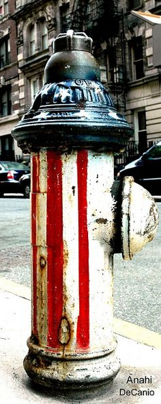PATRIOTIC FIRE HYDRANT NYC by MY PINK SOAPBOX on Flickr