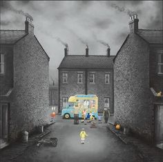 Signed Limited Edition Giclee Print (Framed Canvas version) Edition of 45 x Framed size Leigh Lambert, Ice Cream Van, Happy Art, Another One, First Art, Frame Sizes, Canvas Frame, I Can, Paisajes