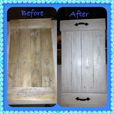 Pallet tray, before & after