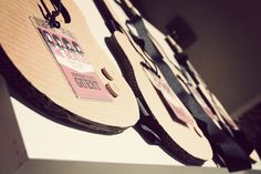 45wall design: The Beatles Party!!!  Cut out guitars to decorate