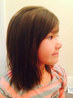 Medium length little girl hair cut! :)