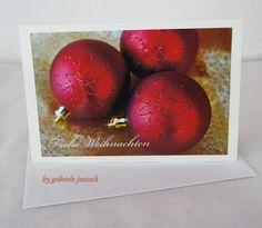"""Karte Weihnachten """"Weihnachtskugeln"""" von PHOTOGLÜCK auf DaWanda.com"""