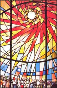 """stained glass inspiration """"summer"""" portion of small panel or """"sun"""" portion of large panel FatimaSun.jpg (200×310)"""