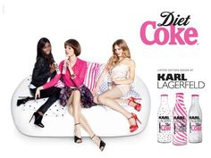 The Karl Lagerfeld Diet Coke 2011 Campaign is Pretty in Pink trendhunter.com