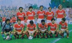 Em cima: Shéu, Bastos Lopes, Oliveira, Álvaro e Manniche. Em baixo: Bento, Veloso, ???, Wando, Diamantino e Carlos Manuel.
