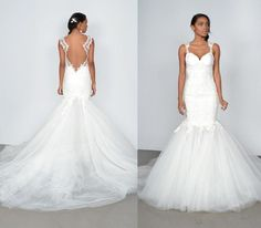 White Organza Mermaid Wedding Dresses Sleeveless Straps Sweetheart Sheath Lace Appliques Hot Sale Backless Bridal Gown With Chapel Train Online with $136.13/Piece on Weddinggirlsdress's Store | DHgate.com