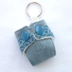 Oscha Okinami Harris Mini Cloth Nappy Keyring by GirlsGotFabric