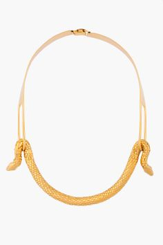 AURELIE BIDERMANN //  GOLD PLATED TAO NECKLACE