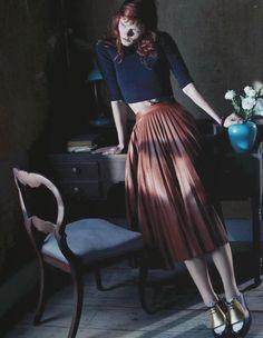 """Garden Colours"", Irina Kravchenko photographed by Emma Summerton in Vogue China July 2013"