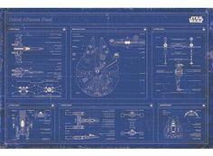 Rebel Alliance Fleet Blueprint - Juliste - Star Wars