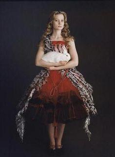 Portrait of Mia Wasikowska for Alice in Wonderland directed by Tim Burton, 2010