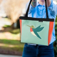 One of our new favs - the Coupe Hummingbird! And we have something special for you - spend $175 or more and receive 25% OFF your order! Shop online with code 25OFF or swing by Stitch now thru Saturday Nov 11th! Reusable Tote Bags, Stitch, My Love, Hummingbird, Shopping, Products, Cutaway, Full Stop, Hummingbirds