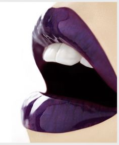 One more deep purple lipstick. I used to wear purple lipstick all the time. Maybe I'll do it again soon! :-)