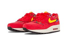 quality design 02254 c9282 nike womens air max 1 print trainers 528898 sneakers shoes us 105  university red sail black 602     Visit the image link more details. (This  is an affiliate ...