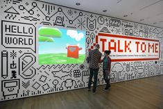 quirky illustrations on wall / video portal / Talk to Me - The Department of Advertising and Graphic Design