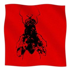 "East Urban Home 'The Fly' By BarmalisiRTB Fleece Blanket Size: 80"" L x 60"" W x 1"" D"
