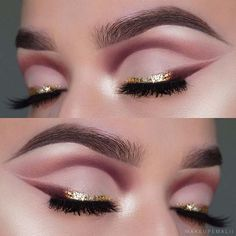 Gold Eyeliner Makeup Idea How will you be celebrating your NYE this year? However you're doing it, do it in style with these 45 glamorous makeup ideas for New Year's Eve! New Year's Makeup, Unique Makeup, Glamorous Makeup, Stunning Makeup, Glam Makeup, Makeup Inspo, Makeup Inspiration, Makeup Tips, Beauty Makeup
