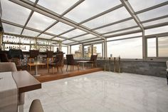 Pool Enclosure, Commercial Restaurant Enclosure, Retractable Patio Roof Systems, Pub Skylight – Project #3588