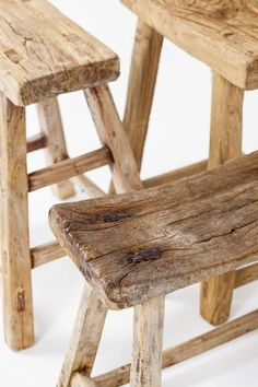 Chinese Old antique wooden Stools unique pieces imported