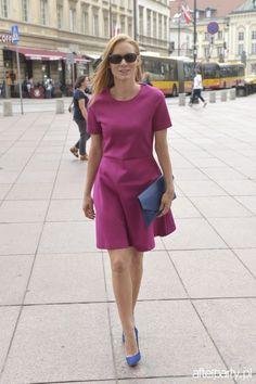 Katarzyna Dąbrowska na ślubie Anny Gzyry