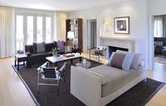 In Fine Style: Through the Eyes of Possibility | Gray and purple living room