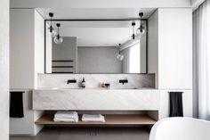 salle-bain-design-marbre-blanc-Mosman-Sidney-Australie-Corben-Architects