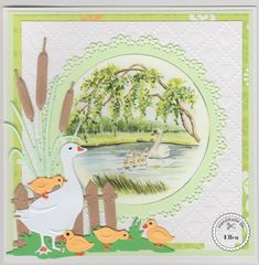 Marianne Design Cards, Diy And Crafts, Paper Crafts, 3d Cards, Swan Lake, Animal Cards, Cardmaking, Birthday Cards, Vintage World Maps