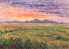 České středohoří - panorama, akvarel Jana Haasová Paintings, Songs, Landscape, Art, Art Background, Scenery, Paint, Painting Art, Kunst