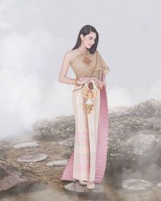 Smile in Love & Wedding Studio Thailand Outfit, Thailand Fashion, Thai Wedding Dress, Thailand Wedding, Thai Traditional Dress, Thai Dress, Thai Style, Indian Fashion, Women's Fashion