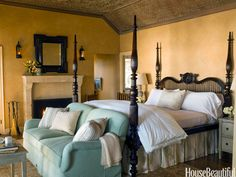 10 Bedrooms With Fireplaces That You Won't Want to Leave Until Spring  - HouseBeautiful.com