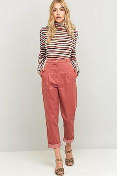 Urban Renewal Vintage Remnants Rose Corduroy Trousers