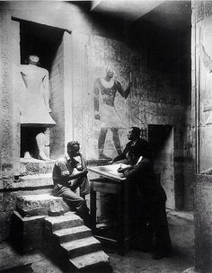 Copying Texts And Scenes In The Tomb Of Mereruka At Saqqara, Egypt — 1934 |