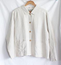 Womens Jacket Small Tommy Bahama Lined Buttons Lightweight Hemp Blend #TommyBahama #BasicJacket
