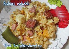 Rakott nokedli (gluténmentesen is) recept foto Potato Salad, Cauliflower, Grains, Food And Drink, Potatoes, Vegetables, Ethnic Recipes, Red Peppers, Cauliflowers